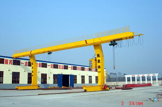 L-Shaped Legs Single Girder Gantry Crane with Hoist