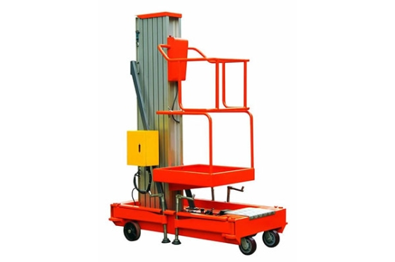 Aluminum Alloy Single Mast Hydraulic Lift