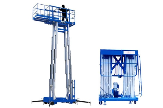 Aluminum Alloy Double Mast Hydraulic Lift
